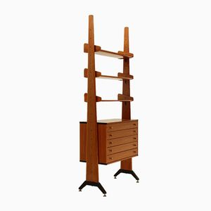 Italian Teak Book Shelf by AV Arredamenti Contemporanei, 1960s