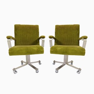 Swivel Chairs by Giulio Moscatelli for Formanova, 1970s, Set of 2