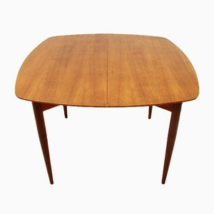 Italian Teak Extendable Dining Table, 1950s