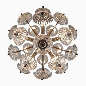 Vintage Dandelion Glass Chandelier from Kamenický Šenov