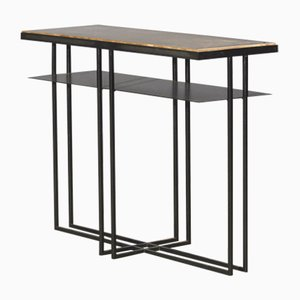 Slate Cross Binate Side Table by Richy Almond for Novocastrian