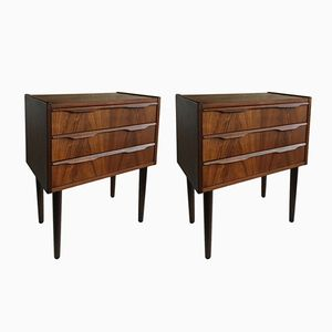 Mid-Century Rosewood Nightstands, 1960s, Set of 2