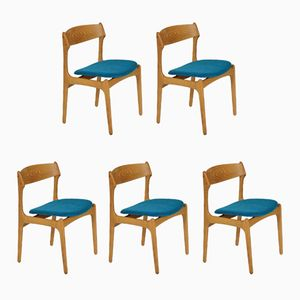 Model 49 Dining Chairs by Erik Buch for O.D. Møbler, Set of 5