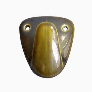 Gancio attaccapanni MId-Century in ceramica verde