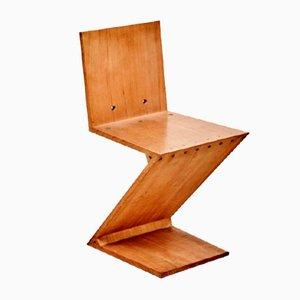 Vintage Zig-Zag Stuhl von Gerrit Rietveld für Metz & Co