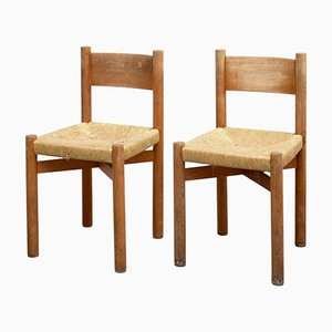 Mid-Century Stühle von Charlotte Perriand für Meribel, 2er Set