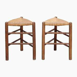 Vintage French Stools, 1970s, Set of 2