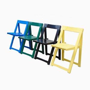 Klappbare Vintage Stühle von Aldo Jacober für Alberto Bazzani, 4er Set