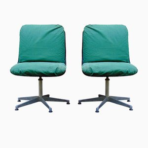 Mid-Century Swivel Chairs, Set of 2
