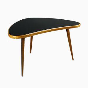 Table Basse avec Plateau en Verre Noir, 1950s