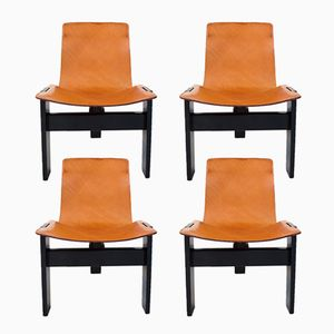Tre 3 Dining Chairs by Angelo Mangiarotti for Skipper and Pollux, 1978, Set of 4