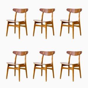 CH 30 Esszimmer Stühle von Hans Wegner für Carl Hansen & Son, 1950er, 6er Set