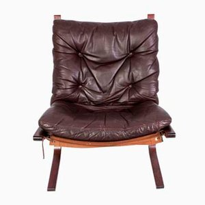 Mid-Century Siesta Leather Lounge Chair by Ingmar Relling for Westnofa