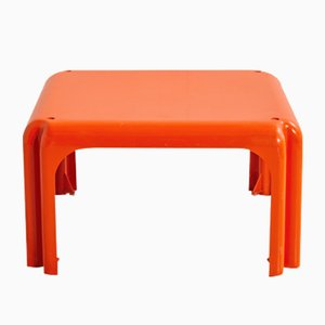 Orange Elena Side Table by Vico Magistretti for Metra, 1960s