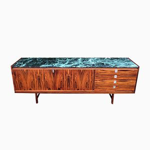 Rosewood Veneer Sideboard with Marble Top by Robert Heritage for Archie Shine, 1960s