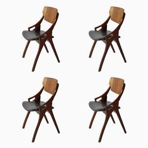 Dining Chairs by Arne Hovmand Olsen for Mogens Kold, 1960s, Set of 4