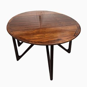 Oval Rosewood Drop Leaf Dining Table by Kurt Ostervig for Jason Mobler, 1960s