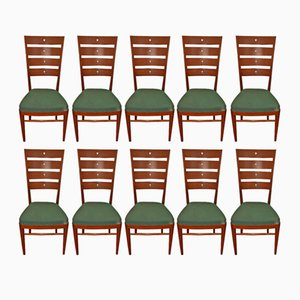 Mid-Century Rosewood Chairs, Set of 10