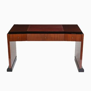 French Modern-Style Mahogany Desk, 1950s
