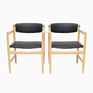 Model 537 Armchairs by Børge Mogensen for Karl Andersson & Söner, 1970s, Set of 2