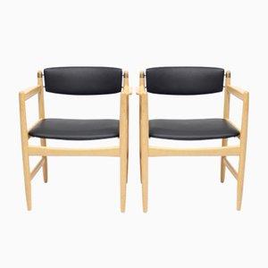 Modell 537 Armlehnstühle von Børge Mogensen für Karl Andersson & Söner, 1970er, 2er Set