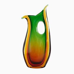 Große Murano Sommerso Glas Vase von Flavio Poli für Seguso, 1960er