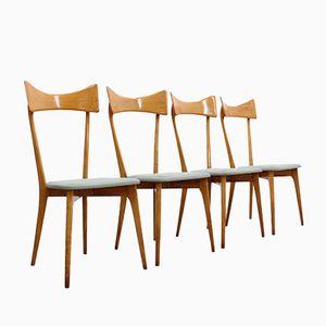 Mid-Century Esszimmer Stühle von Ico Parisi, 4er Set