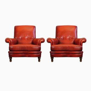Leather Armchairs from Sieges de Luynes, 1970s, Set of 2