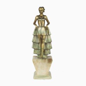 Art Deco Spelter Figure by Josef Lorenzl, 1930s