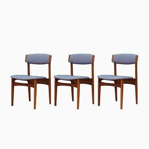 Chaises d'Appoint par N.& K. Bundgaard Rasmussen pour Thorsø Stolefabrik, 1960s, Set de 3