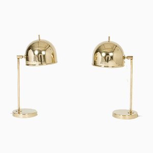 Brass Table Lamps from Bergboms, 1950s, Set of 2