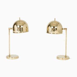 Lampade da tavolo in ottone di Bergboms, anni '50, set di 2