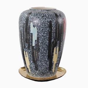Große Vase mit Bunten Details, 1950er
