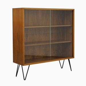 Walnut and Glass Vitrine with Hairpin Legs, 1960s