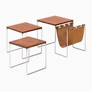 Tavolini a incastro impiallacciati in palissandro di Brabantia, anni '60