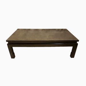 Vintage Lacquered Coffee Table with Gold Inclusions by Maison Jansen