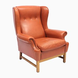 Oxford / 3543 Wingback Chair by Ragnar Helsén for Svenskt Tenn, 1970s