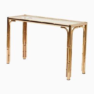 Table Console avec Faux Bambou, 1970s