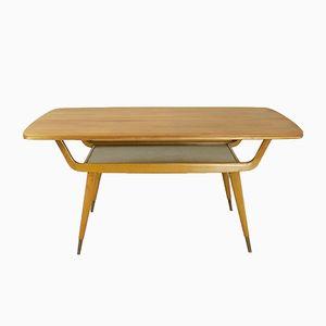 Table Basse Vintage en Noyer & Hêtre, 1960s