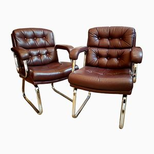 Leather Armchairs by Gordon Russell for Verco, Set of 2