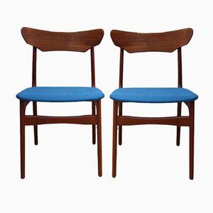 Vintage Teak Dining Chairs, 1960s, Set of 2