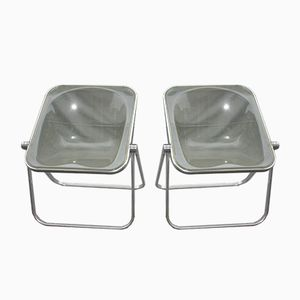 Plona Folding Chairs by Giancarlo Piretti for Castelli, 1960s, Set of 2