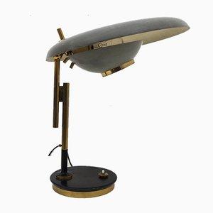 Lampada da tavolo modello 555 regolabile di Oscar Torlasco per Lumi Milano, anni '50