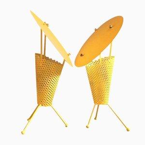 Tisch Lampen von Jacques Biny, 1950er, 2er Set