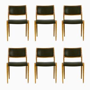 80 Stühle von Niels Otto Moller für J.L. Møllers, 1960er, 6er Set