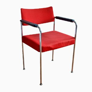 Chaise en Tapisserie Rouge de Stoll Giroflex, 1970s