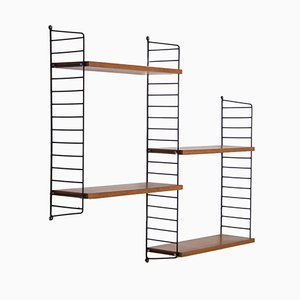 Libreria modulare vintage di Kajsa e Nisse Strinning per String