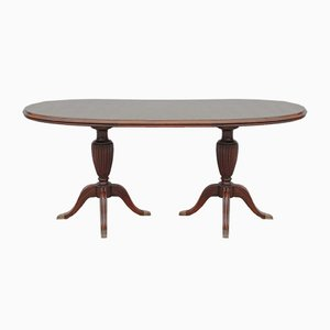 Vintage Oval Mahogany Dining Table