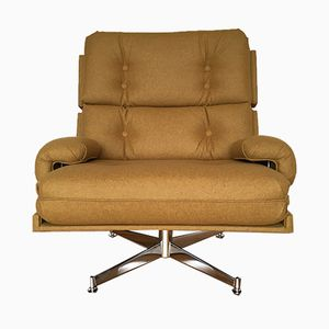 Drehbarer Britischer Kohinoor Sessel von Howard Keith für HK Furniture, 1970er