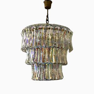 Murano Glas Kronleuchter von Venini, 1960er